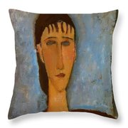 Portrait Of A Young Girl 1910 Throw Pillow