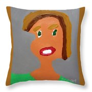 Portrait Of A Young Girl Throw Pillow