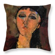 Portrait Of A Young Girl Louise 1915 Throw Pillow