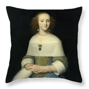 Portrait Of A Young Lady Throw Pillow