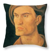 Portrait Of A Young Man 1500 Throw Pillow
