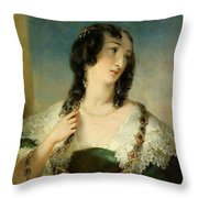 Portrait Of A Young Woman Throw Pillow