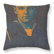 Portrait Of A Young  Wwi Soldier Series 10 Throw Pillow