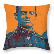 Portrait Of A Young  Wwi Soldier Series 12 Throw Pillow