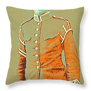 Portrait Of A Young  Wwi Soldier Series 14 Throw Pillow