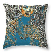 Portrait Of A Young  Wwi Soldier Series 16 Throw Pillow