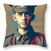 Portrait Of A Young  Wwi Soldier Series 19 Throw Pillow