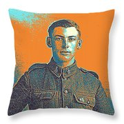 Portrait Of A Young  Wwi Soldier Series 6 Throw Pillow