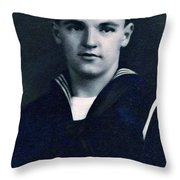 Portrait Of A Young  Wwi Soldier Series 8 Throw Pillow