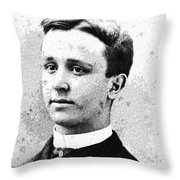 Portrait Of A Youth 29 By Adam Asar -  Asar Studios Throw Pillow