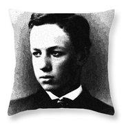 Portrait Of A Youth 30 By Adam Asar -  Asar Studios Throw Pillow