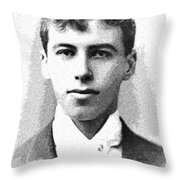Portrait Of A Youth 31 By Adam Asar -  Asar Studios Throw Pillow