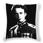 Portrait Of A Youth From History Series. No 5 Throw Pillow