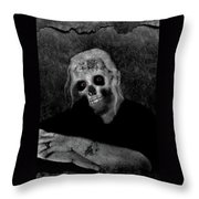 Portrait Of A Zombie Throw Pillow