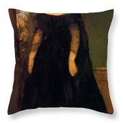 Portrait Of Actress Fanny Janauscher Throw Pillow