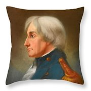 Portrait Of Admiral Lord Nelson Throw Pillow