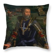 Portrait Of Alfonso I D Este 1530 Throw Pillow