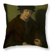 Portrait Of An Almoner Of Antwerp Throw Pillow