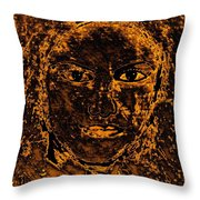 Portrait Of An Ancient Woman Throw Pillow