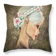 Portrait Of An Elf Throw Pillow