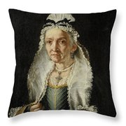 Portrait Of An Old Lady Throw Pillow