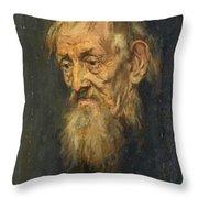 Portrait Of An Old Man 1913 Throw Pillow