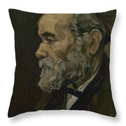 Portrait Of An Old Man Antwerp December 1885 Vincent Van Gogh 1853  1890 Throw Pillow