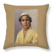 Portrait Of An Oriental Throw Pillow