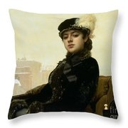 Portrait Of An Unknown Woman Throw Pillow
