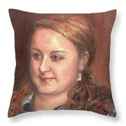 Portrait Of Andrea Throw Pillow