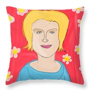 Portrait Of Ania Throw Pillow