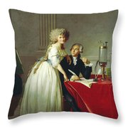Portrait Of Antoine-laurent Lavoisier And His Wife Throw Pillow