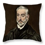 Portrait Of Antonio De Covarrubias Throw Pillow