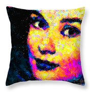 Portrait Of Audrey Hepburn Throw Pillow