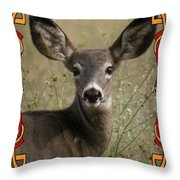 Portrait Of Bambi Throw Pillow