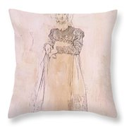 Portrait Of Baroness Papenheim Throw Pillow