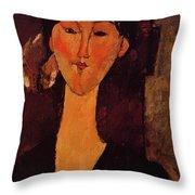 Portrait Of Beatrice Hastings 1915 Throw Pillow