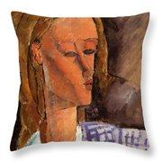 Portrait Of Beatrice Hastings 1916 Throw Pillow