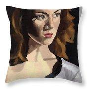 Portrait Of Becca Throw Pillow