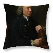 Portrait Of Benjamin Stillingfleet Throw Pillow