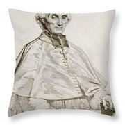 Portrait Of Bishop Persigny Throw Pillow