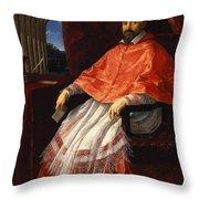 Portrait Of Cardinal Roberto Ubaldini 1625 Throw Pillow