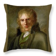 portrait of Caspar David Friedrich Throw Pillow