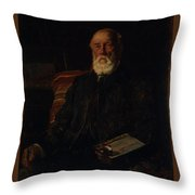 Portrait Of C.d. Barraud, 1897, Wellington, By James Nairn Throw Pillow