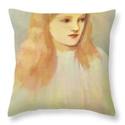 Portrait Of Cecily Horner Throw Pillow