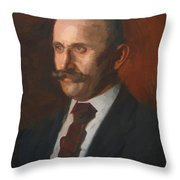 Portrait Of Charles Gruppe 1904 Throw Pillow