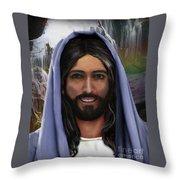 Portrait Of Christ Throw Pillow
