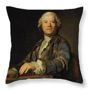 Portrait Of Christoph Willibald Ritter Von Gluck Throw Pillow