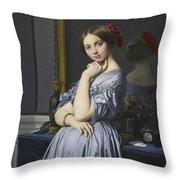 Portrait Of Comtesse D'haussonville Throw Pillow