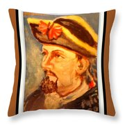 Portrait Of Conrad As British Soldier Throw Pillow